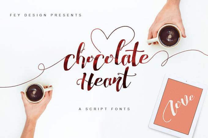 chocolate wedding font