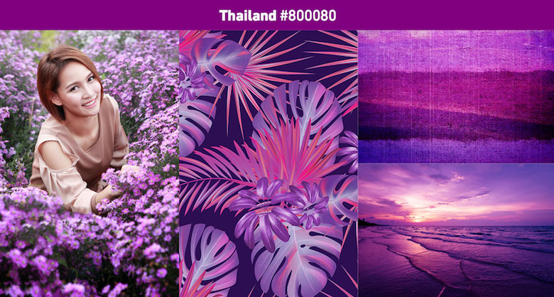 Thailand Most popular color in 2019