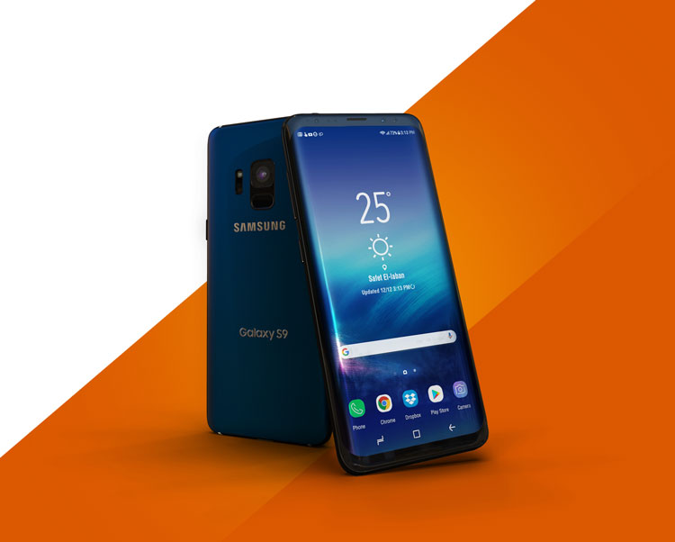 Samsung Galaxy S9 PSD Mockup Free Download