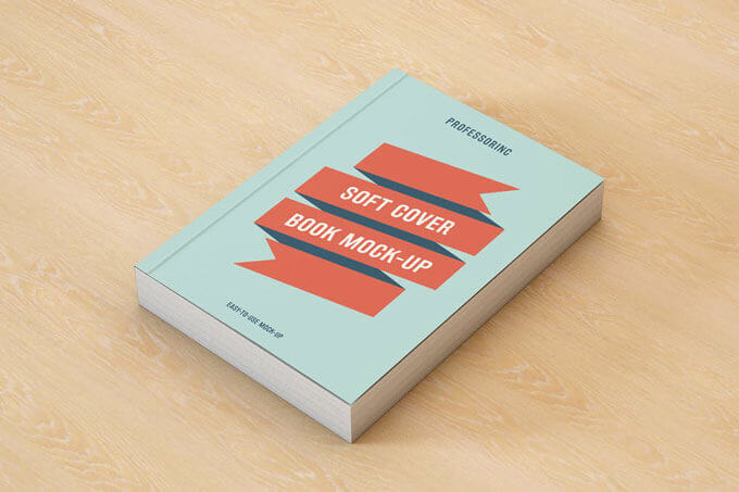 soft cover book mockup template