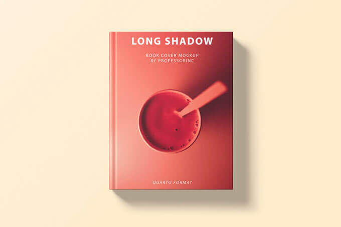 minimal book cover psd template