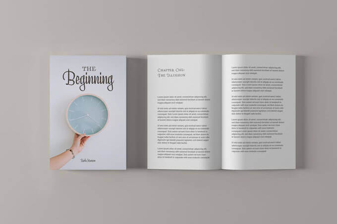 Simple Book Cover Mockup Templates