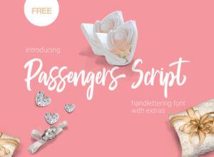 Passengers Script Free Font Download