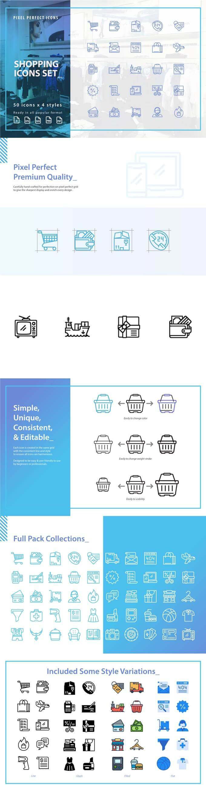 Free Shopping Icons Set