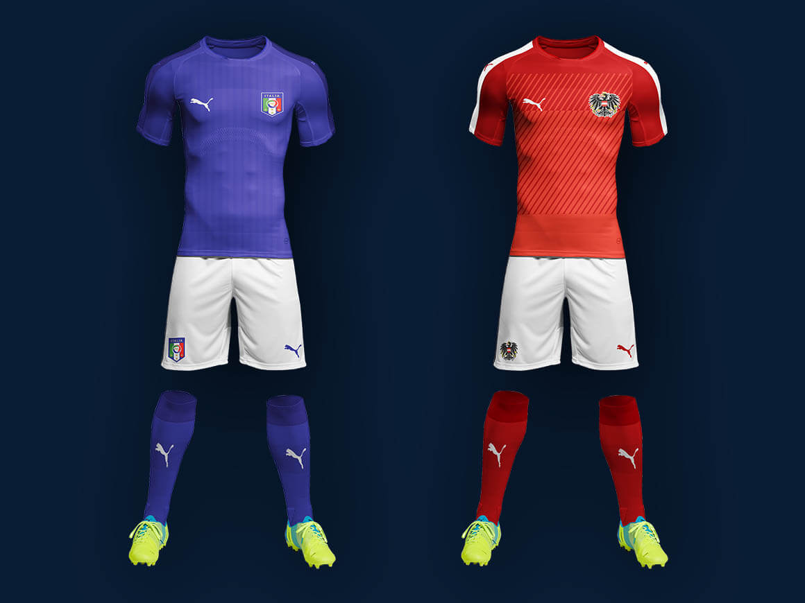 Free Soccer Kit Mockup PSD Download