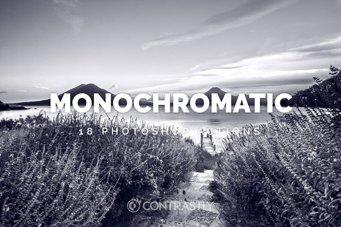 Monochromatic Best Black & White Photoshop Actions