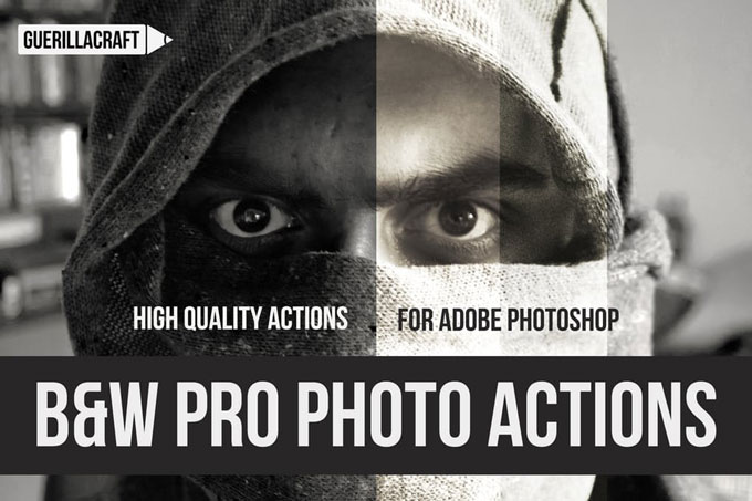 professional Best Black & White Photoshop Actions
