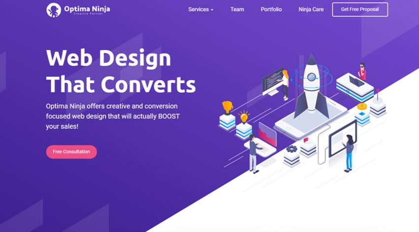 Examples Of Amazing Isometric Illustrations In Web Design