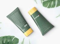 Free Realistic Cosmetic Cream Tube Mockup PSD