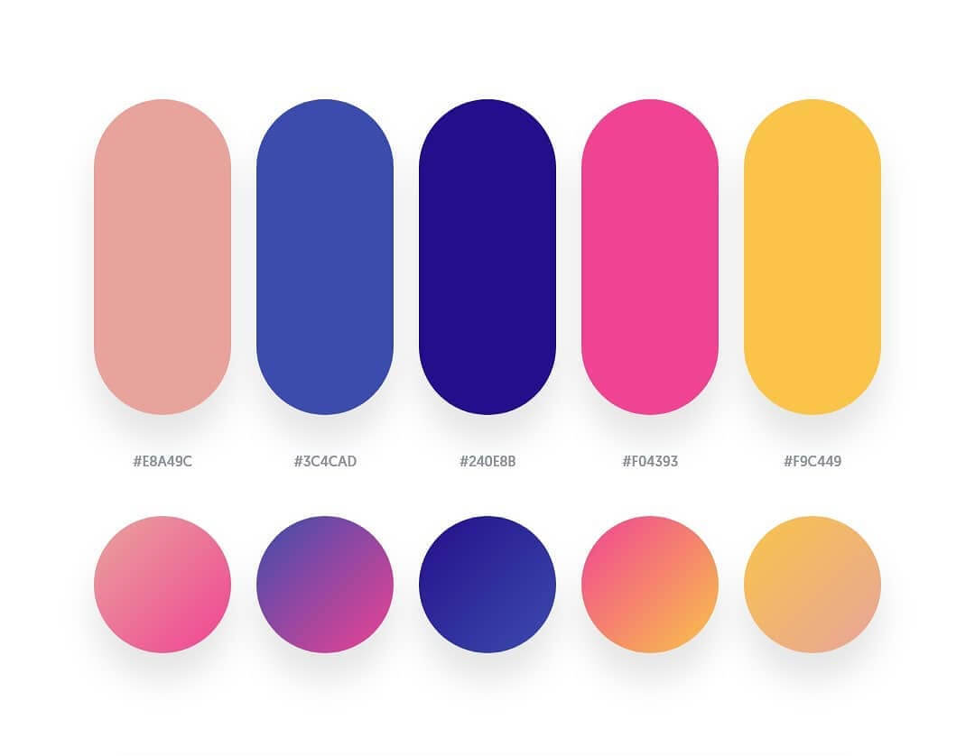 Beautiful Gradient Palettes