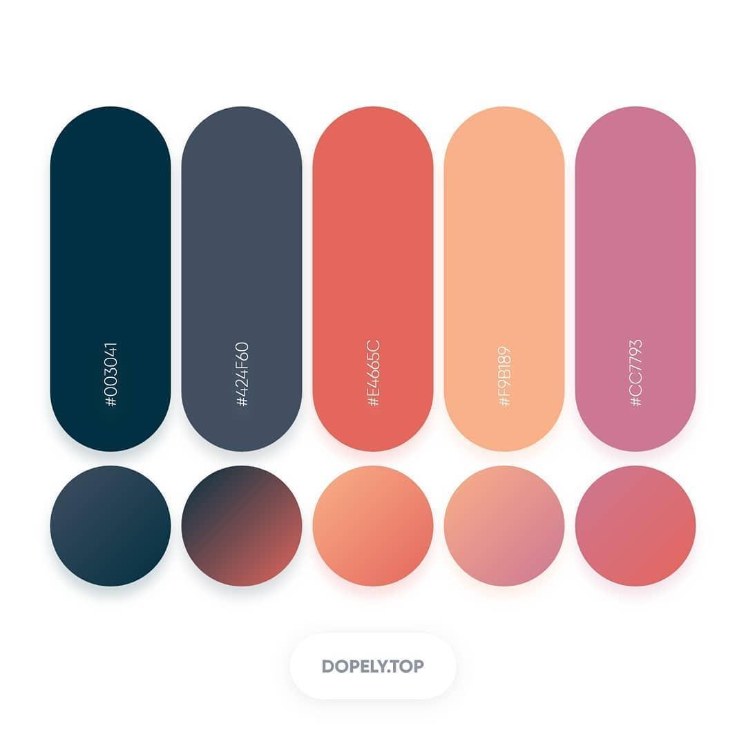 Beautiful Gradient Color Palettes