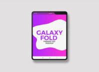 Free Samsung Galaxy Fold Mockup PSD