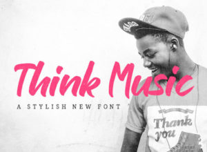 Free Think Music Script Brush Font Download
