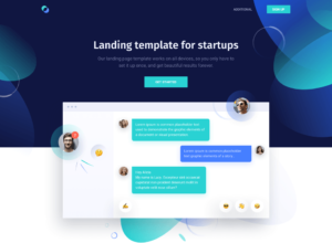 Free HTML Landing Page Template For Startups