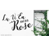 Free La Vie En Rose Beautiful Script Font