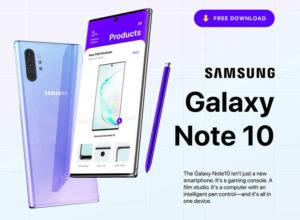 Free Samsung Galaxy Note 10/Note 10+ PSD Mockup