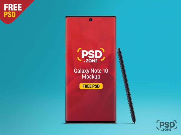 Galaxy Note 10/Note 10+ PSD Mockup Templates