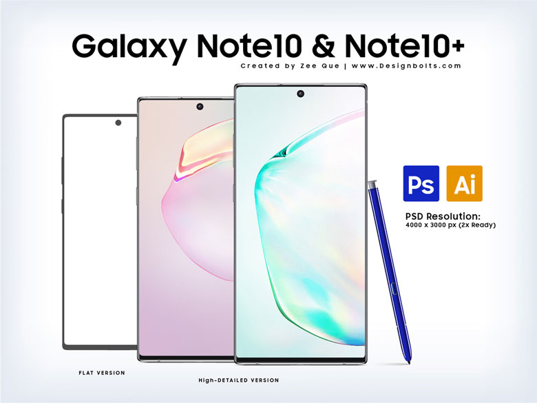 Note 10 PSD Mockup Templates