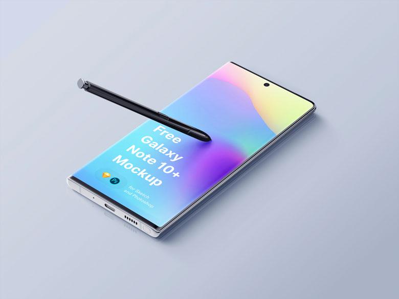 Free Samsung Galaxy Note 10 PSD Mockup Templates
