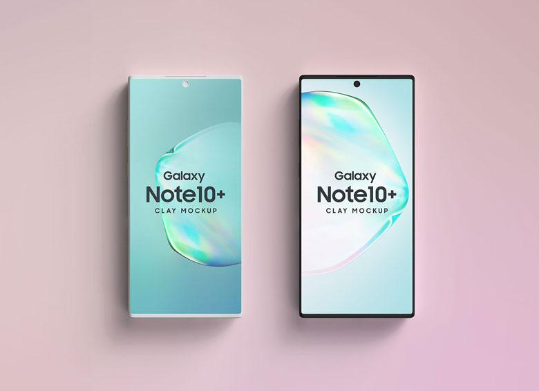 Clay Galaxy Note 10 PSD Mockup Templates