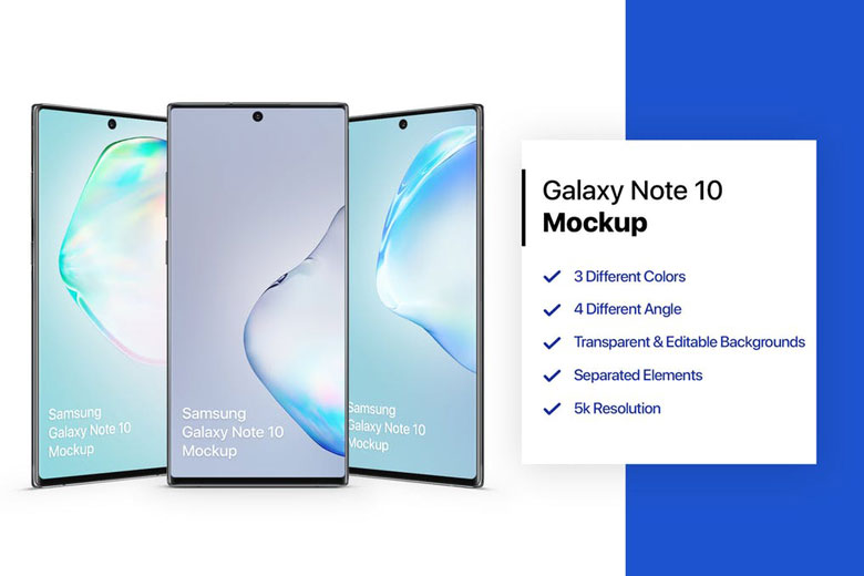 Free Samsung Galaxy Note 10/Note 10+ PSD Mockup Templates