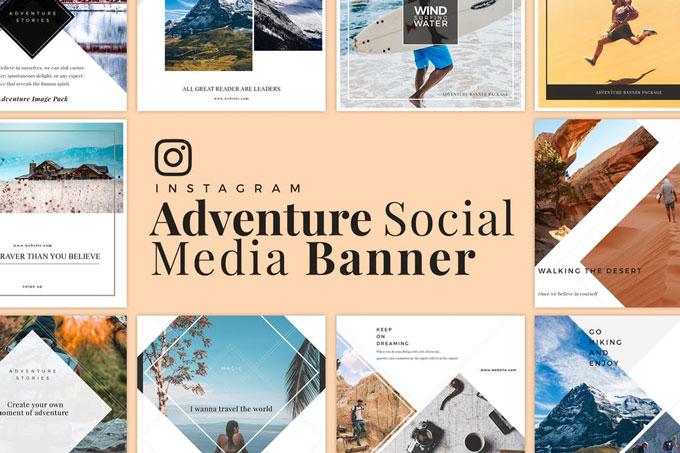 Adventure Social Media Banner Templates
