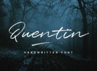 Free Quentin Handwritten Script Font