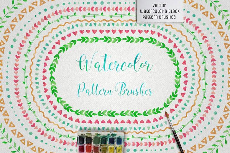Watercolor Illustrator Brushes