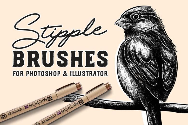 Stipple Shading Illustrator Brushes