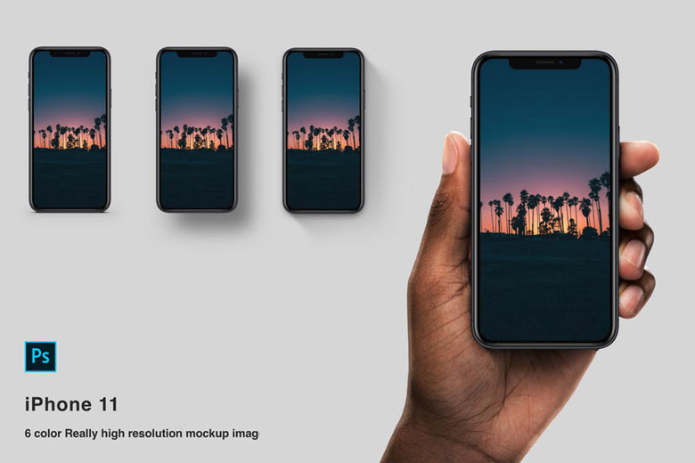 iPhone 11 Realistic In Hand Mockup