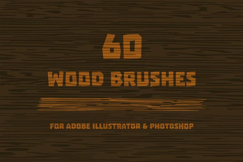 wood vector brush illustrator