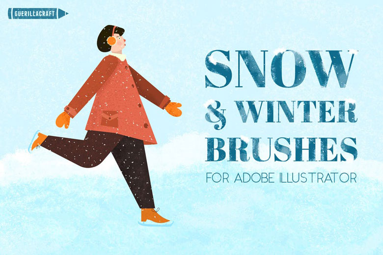 snow and winter vector brush