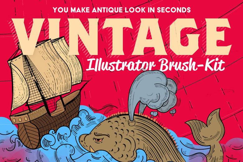 vintage illustrator brush kit