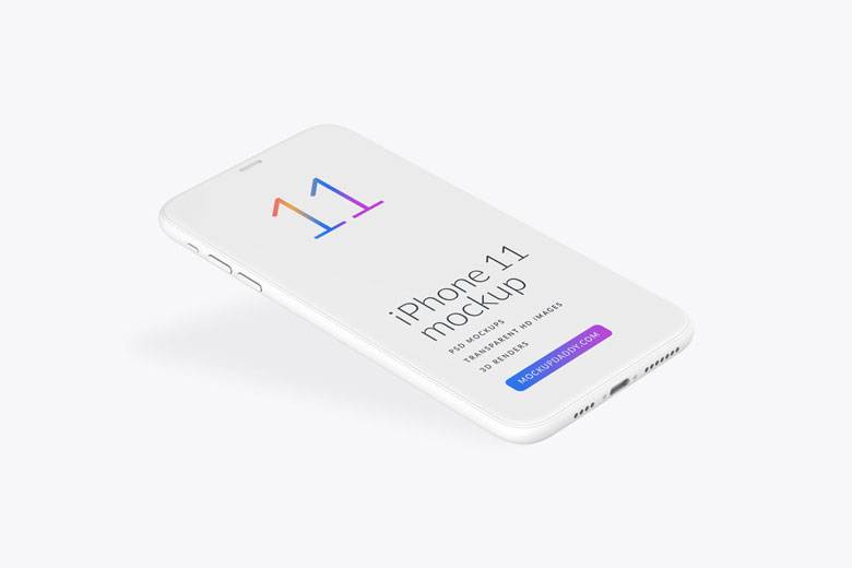 iPhone 11 Clay Mockup PSD Free Download