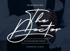 The Doctor free handwritten signature font