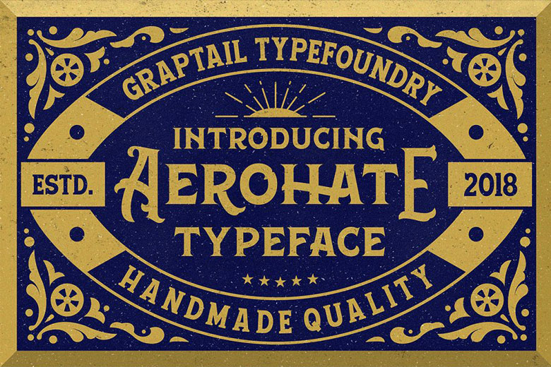 Classic Font For Label Design