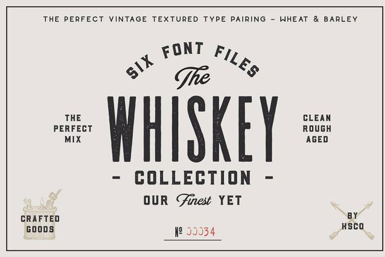 Whiskey Inspired Script Typeface Font