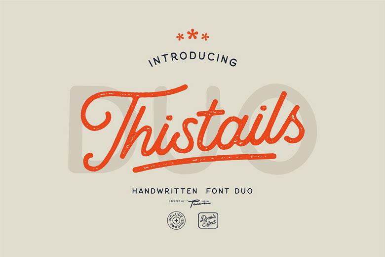 Font Duo Vintage Look Design