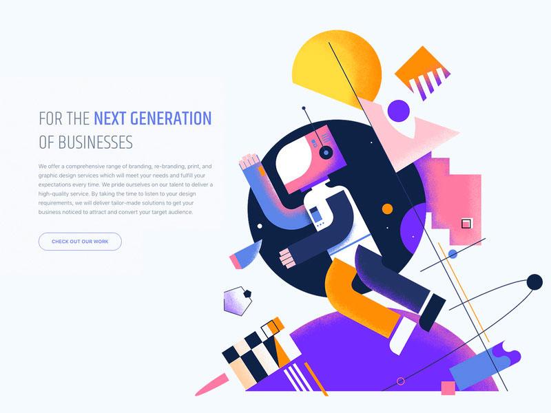 Geometric designs graphic design trend