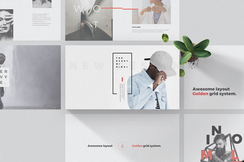 Free Minimal Design Powerpoint Template