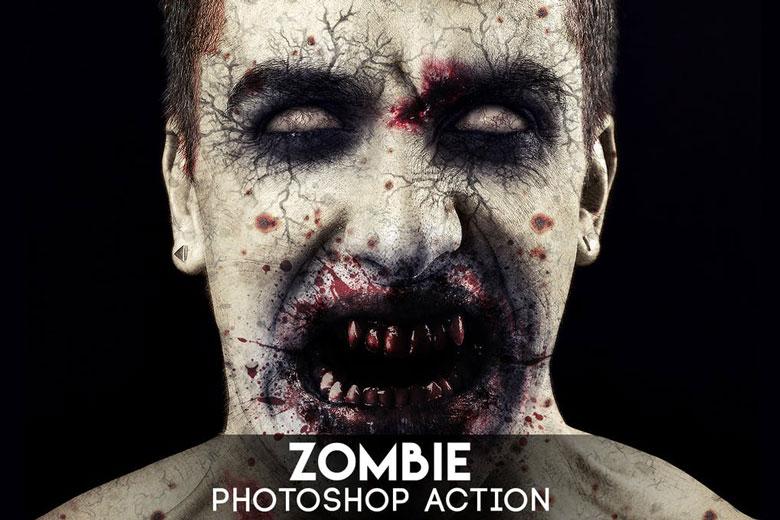 Halloween Zombie Photoshop Action