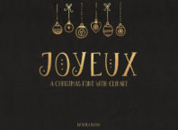 Christmas Font & Clipart