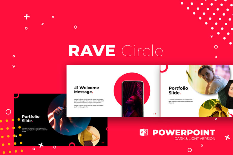 Rave Free Bold Powerpoint Template